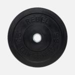 Black rubber bumper plate_10kg