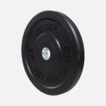 Black rubber bumper plate_10kg_angle