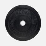 Black rubber bumper plate_15kg