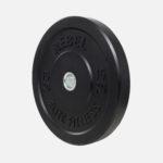 Black rubber bumper plate_15kg_angle