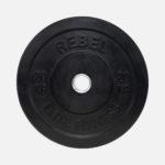 Black rubber bumper plate_20kg