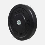 Black rubber bumper plate_20kg_angle