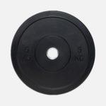 Black rubber bumper plate_5kg
