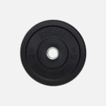 Black rubber bumper plate_5kg Stubby