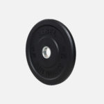 Black rubber bumper plate_5kg Stubby_angle