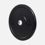 Black rubber bumper plate_5kg_angle