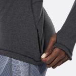 REEBOK WOMEN'S RUNNING ESSENTIALS QUARTER ZIP TOP BLACK_4