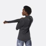REEBOK WOMEN'S RUNNING ESSENTIALS QUARTER ZIP TOP BLACK_6