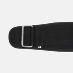 Rebel Weightlifting Belt – Black Webbing with synthetic – 120mm_ Buckle close up
