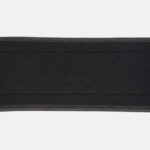 Rebel Weightlifting Belt – Black Webbing with synthetic – 120mm_ Soft inner close up
