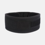 Rebel Weightlifting Belt – Black Webbing with synthetic – 120mm_ Tied Back