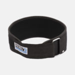Rebel Weightlifting Belt – Black Webbing with synthetic – 120mm_ Tied Front