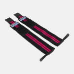 Wrist Wraps_Pink Stripes_Flat