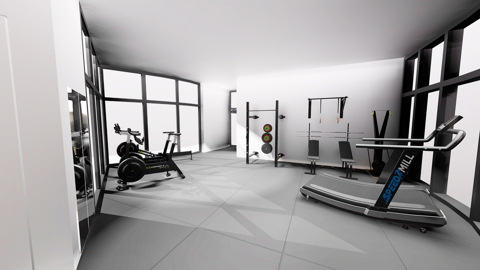 Rebel 3d gym layout for a boutique style gym
