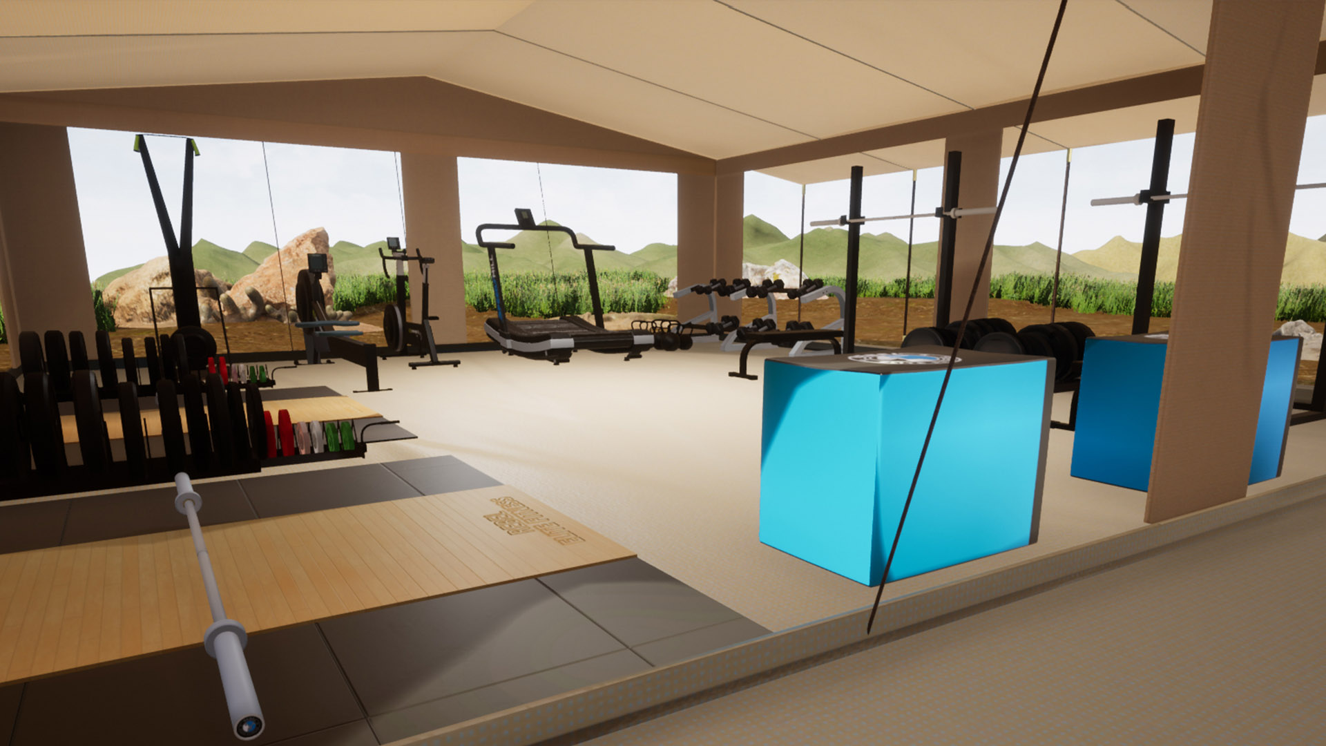 Rebel 3d Gym layout for a commercial style gym