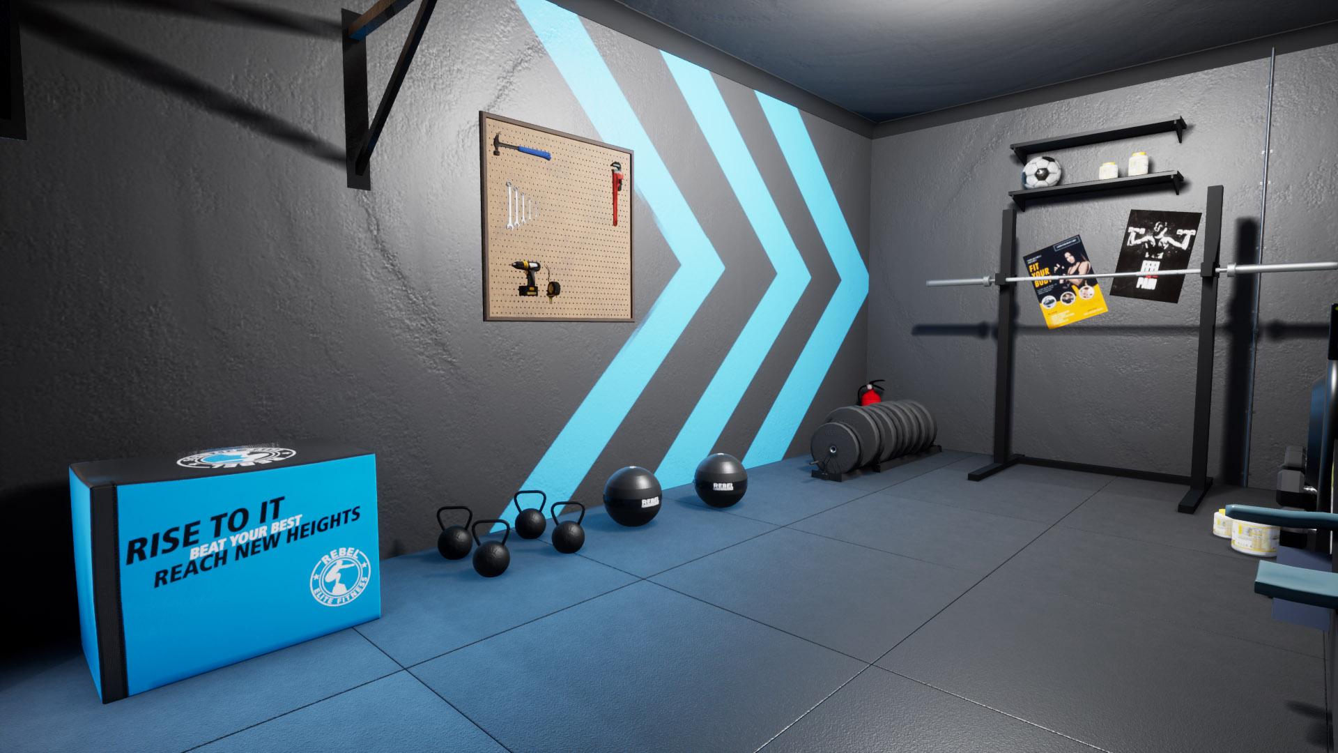 Rebel Gym Design layout