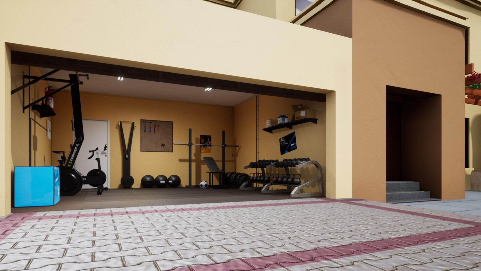Rebel gym design - Home gym in a garage with Rebel Elite Fitness gear