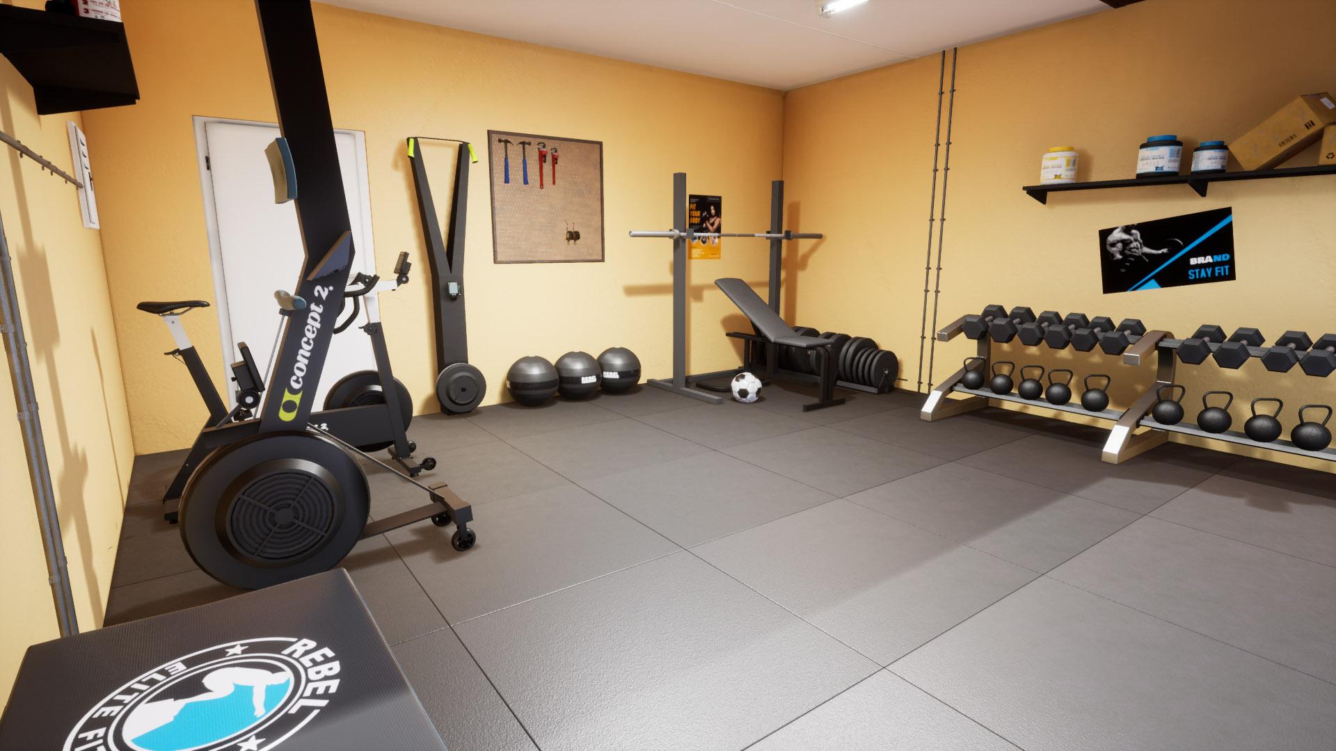 Rebel Gym Design for a home gym, in a garage