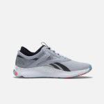 Reebok Men's Training HIIT Shoes Grey and Orange angle 2