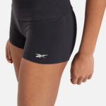 Reebok Women's Chase Bootie Shorts Solid Black front alt angle front