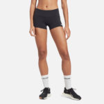 Reebok Women's Chase Bootie Shorts Solid Black front styled