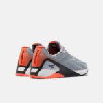 Reebok Men's Nano X1 Grit Grey:Black:Orange Pair Back