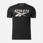Reebok Men's Athlete Tee Black Front