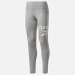 Reebok Women's Big logo Leggings Grey Heather Front